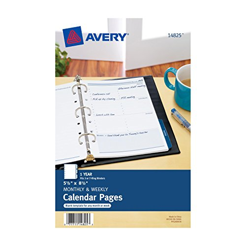 Avery Style Edge Insertable Plastic Dividers, 5.5 X 8.5