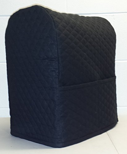 Quilted Food Processor Cover Black Large Pohsnio