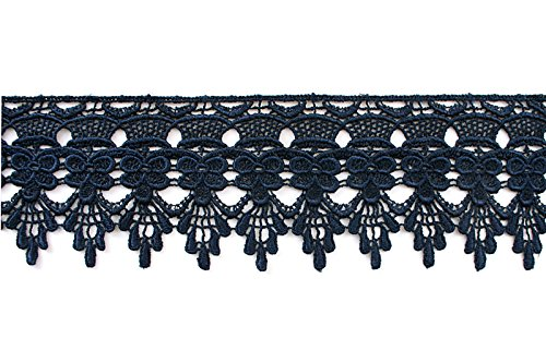 8cm Stunning Turquoise guipure venice lace trim for designing sewing arts 1 mtr