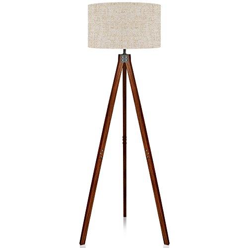 Walnut Brown Modern Standing Light For Living Rooms